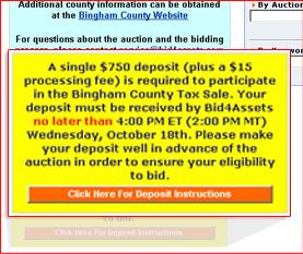 Deposit Instructions